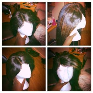 hand made Brazilian wig cap with lace closure